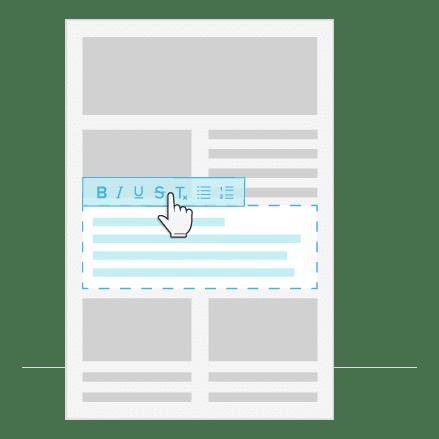 insert newsletter text