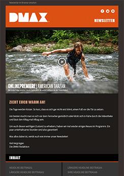 newsletter template custom design