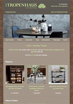 tropenhaus newsletter template