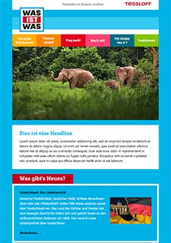 elephants newsletter template