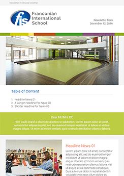 custom design email newsletter template