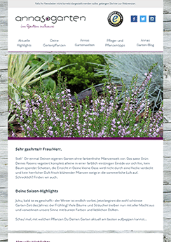 newsletter template gardening
