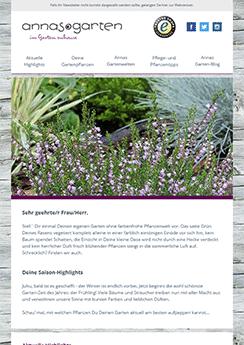newsletter template gardening