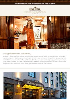 kings hotel newsletter template