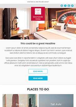 Newsletter Example Hotel Industry  Example News Letter
