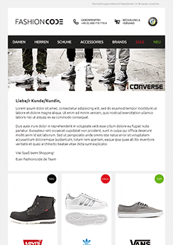 ecommerce newsletter template example