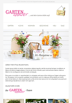 newsletter template example flowers