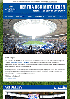 hertha newsletter template