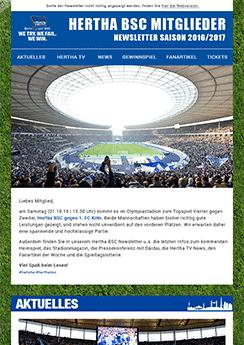 hertha newsletter template