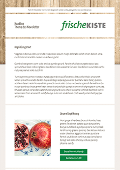 food newsletter template