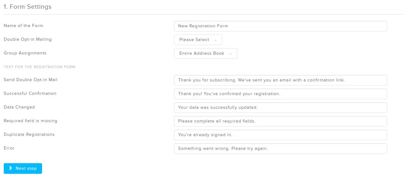 412d29e7184 Newsletter Registration Form Generator - Newsletter2Go
