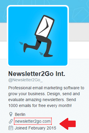 Grow email list via Twitter