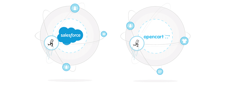 Salesforce and Opencart plug-ins