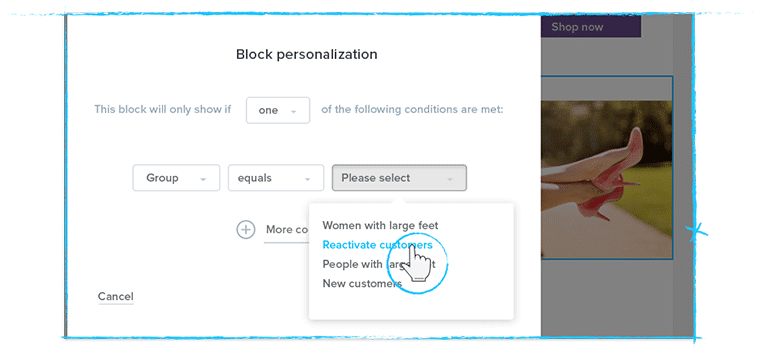 new design block personalization